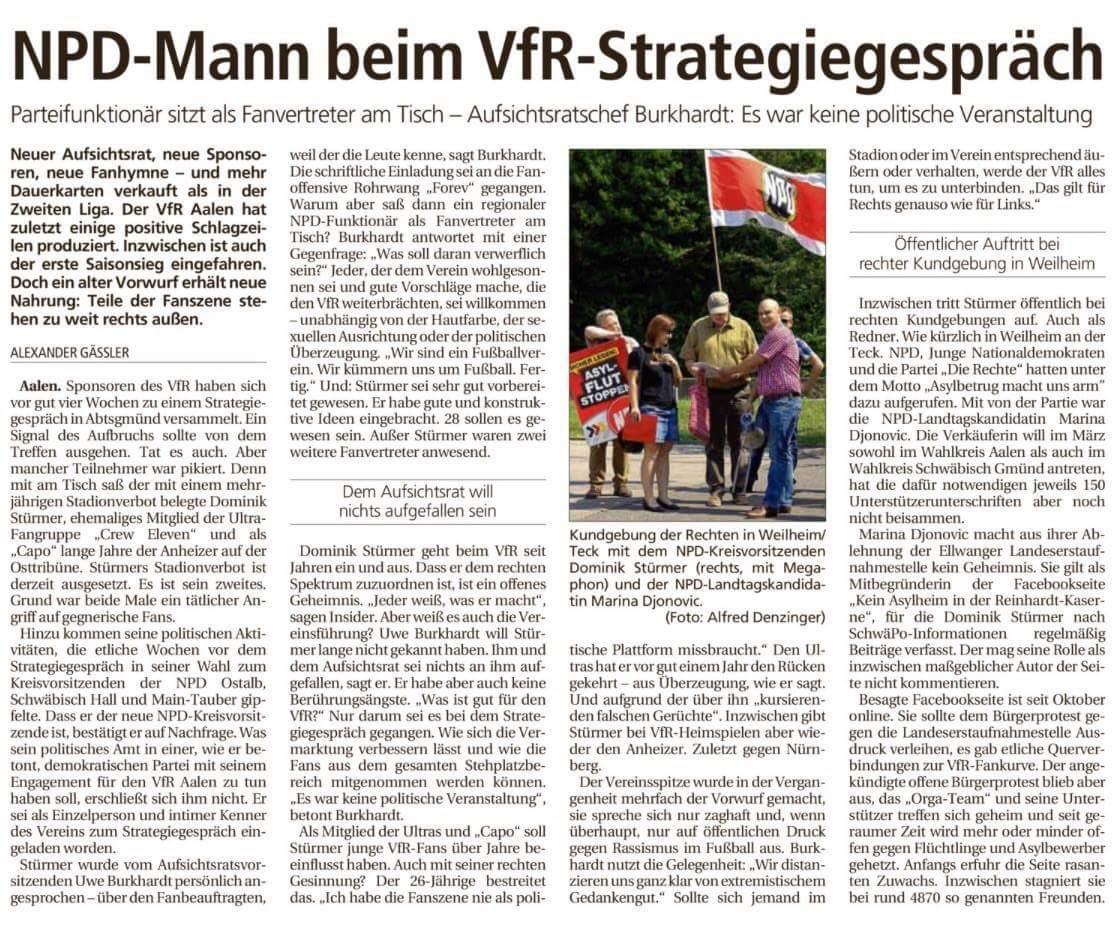 Zeitung NPD VfR